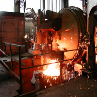 ROTARY OXY-COMBUSTION MELTING FURNACE FOR CAST IRON